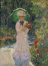 Reproduction Home Wall Painting Claude Monet Camille with Green Umbrella For Art Decoration Custom Canvas
