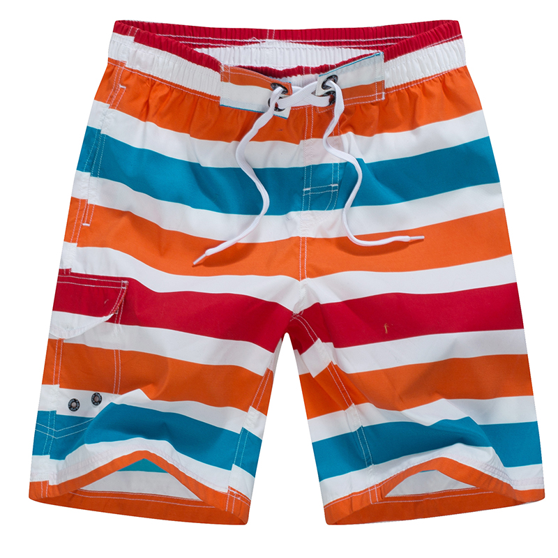 Hot Quick Dry Men Shorts Brand Swimwears Beach Shorts Summer Casual Brands Clothing stripe Men's Board Shorts T-1508