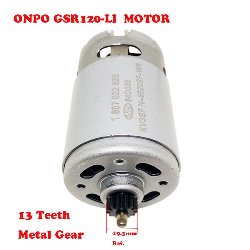 ONPO 12V 13 teeth 1607022628 DC micro motor for BOSCH GSB120-LI(3601JF7020) electric drill Screwdriver maintenance spare parts