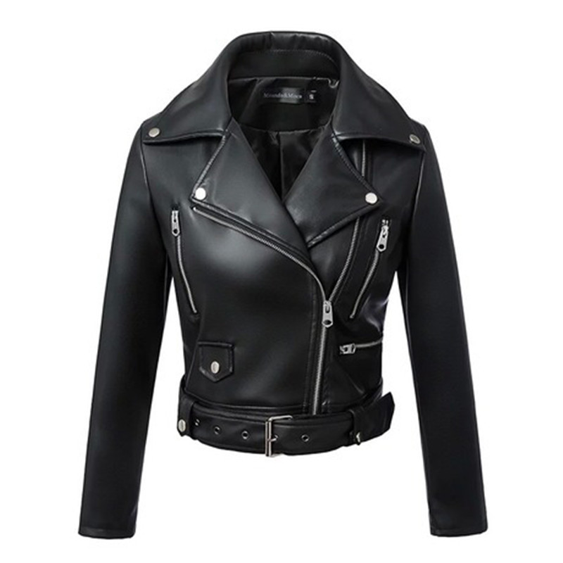 Female Jacket Woman   Leather   Jacket Blazer Collar Moto & Biker   Leather   Coat High Quality Pu Coat Outerwear XS S M L XL XXL