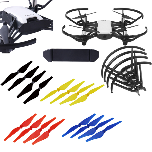 Mini Drone Propeller Blades + Battery Buckle Clip Holder + Propeller Protective Guards for DJI Tello FPV Drone Accessories