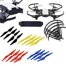 Mini Drone pervane bıçakları + pil toka klip tutucu + Propeller koruyucu muhafızları DJI Tello FPV Drone aksesuarları
