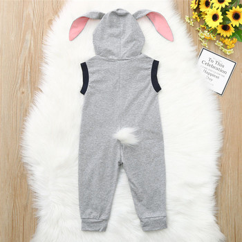 Baby clothes  Toddler Kid Baby Girl Boy Sleeveless Bunny Rabbit Easter Romper Jumpsuit Clothes 3M-24M babys A20 1