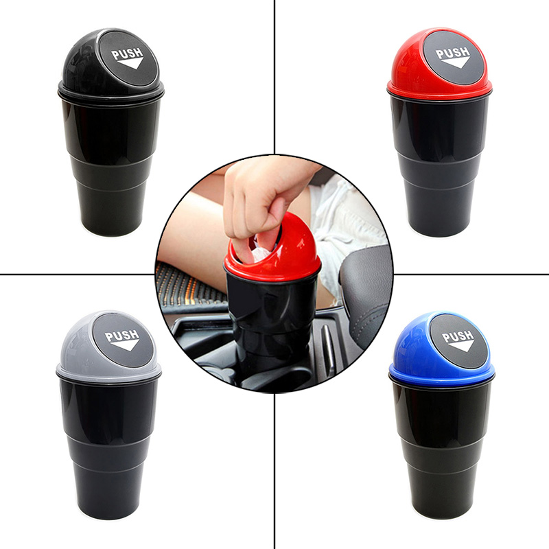 Delicate Car Garbage Can Vehicle Trash Can Garbage Dust Case Holder Bin Auto Styling font b