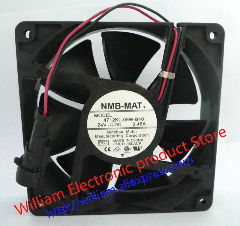 New Original NMB 4712KL-05W-B40 PQ1 24V 0.48A 120*120*38MM 12cm 3 lines Inverter cooling fan ada instruments phantom 2d