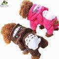 100% Хлопок Собак Pet Костюм Теплое Зимнее Пальто Милые Собаки Одежда Толстовка Комбинезон Четыре Ноги Одежда Для Собак Размер XS-XXL