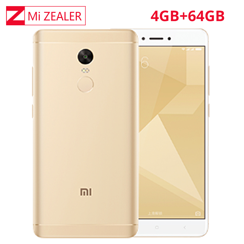 Official Global Rom Xiaomi Redmi Note 4X4 GB 64 GB Mobile Phone Snapdragon 625
