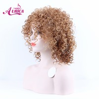Aurica Heat Safe Synthetic Hair Non Lace Wig With Full Fringe For Women