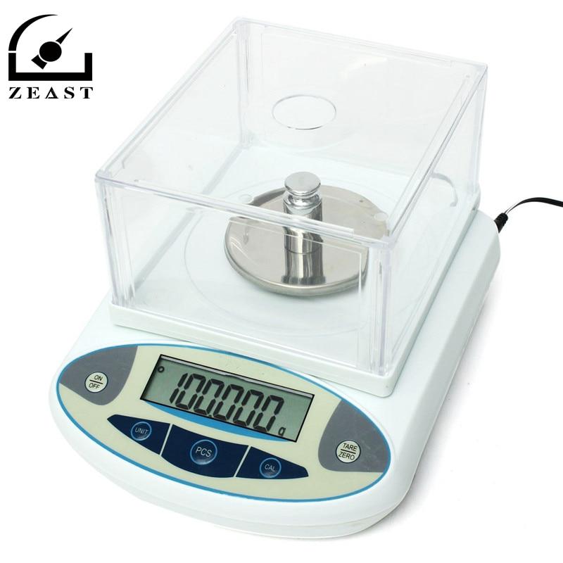 100x0.001g 1 mg Digital Lab Bilancia Analitica Bilancia Elettronica di Precisione Nuovo Arrivo di Alta Qualità bilancia