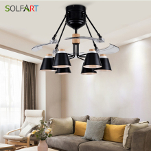 Modern Folding Fan Lights Fashion Invisible Mute Ceiling Lamp 48 Inch Blades Light