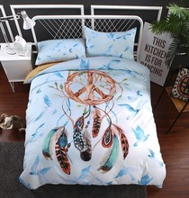 New Dream Catcher Bedding Set Bed Linen Queen Size Healthy Duvet Cover Pillowcase Bedding Set Nice Home Textile BeddingNew Dream блендер bosch mmb21p0r