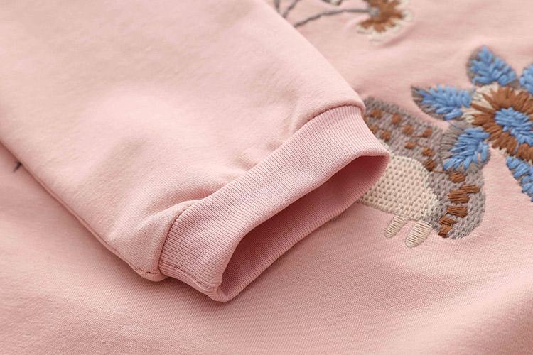 HTB1 r FXLBNTKJjSszbq6yFrFXag - Kids Girls T Shirts Autumn 2018 Fashion Embroidery Pattern Kids T Shirt Long Sleeve Simple O-neck Children Clothing B0699