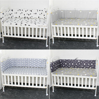 Breathable Cotton Linen Baby Crib Bumpers For Newborn Infant Cot Protector Crotch To The Cot 200cm Length