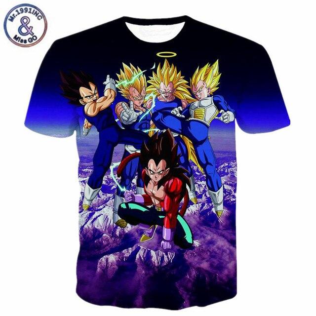 Neu Kommen Claasic Dragon Ball Z Super Saiyanvegeta Zeichen 3d T