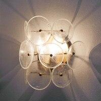Классический Винтаж кристалл настенный светильник E27 база прикроватные Спальня цвет серебристый, Золотой Balll бра 220 В настенное бра Освещен