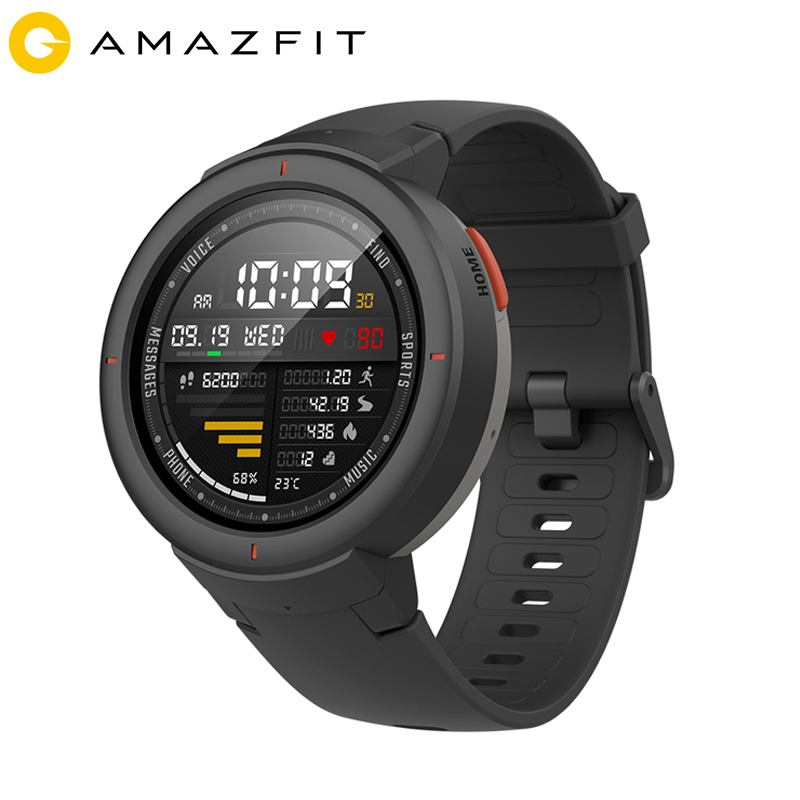 Amazfit GPS Smartwatch Hr-Sensor Verge Answer Amoled-Screen Dial Calls Men