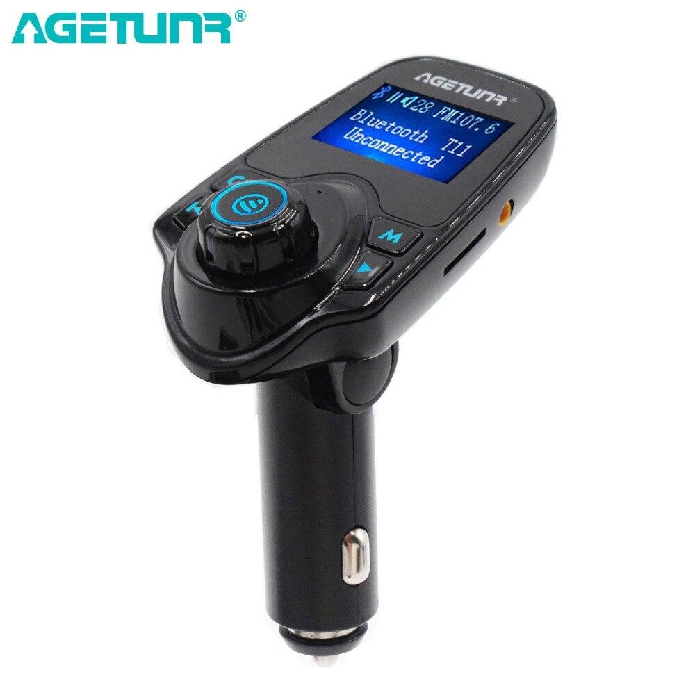 AGETUNR <font><b>Bluetooth</b></font> Car Kit громкой связи MP3 плеер fm-передатчик Dual USB Автомобильное Зарядное устройство 5 В 2.1A, поддержка Micro SD карты и У диска