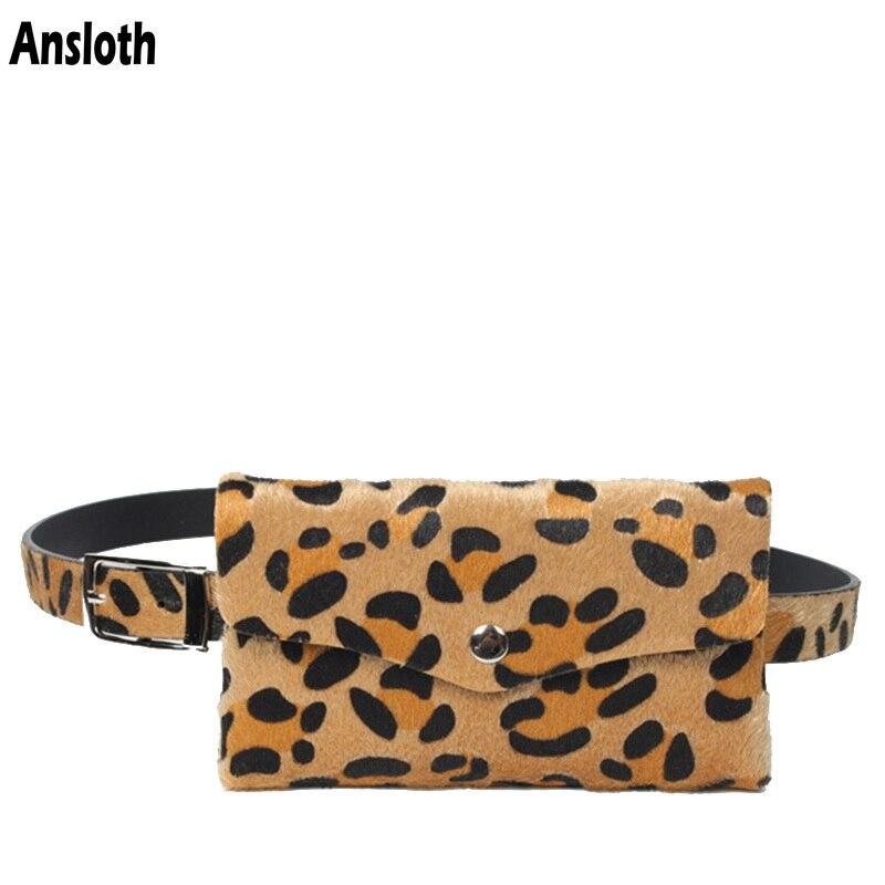 Bauchtaschen Ansloth Mode Frauen Taille Taschen Klassische Leopard Muster Gürtel Tasche Handy Tasche Tasche Damen Frauen Pack Pu Leder Taschen Hps387 Attraktive Designs; Damentaschen