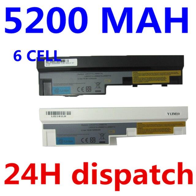 5200 мАч аккумулятор для ноутбука Lenovo IdeaPad S100 S10-3 S205 S110 U160 S100c S205s U165 L09M6Y14 L09S6Y14 6 клеток черный и белый