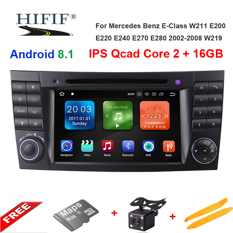 wo Din Car Multimedia Player Android 8.1 DVD Player For Mercedes/Benz/E-Class/W211/E300/<font><b>CLK</b></font>/<font><b>W209</b></font>/CLS/W219 GPS <font><b>Radio</b></font> 16GB image