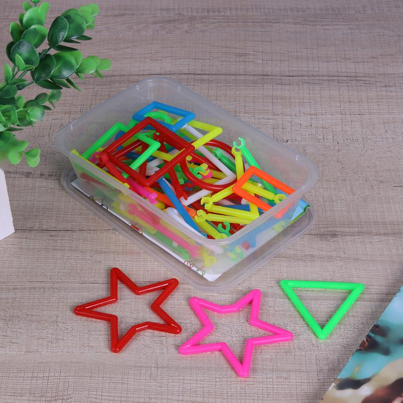 Baby Toys Smart Sticks Children Plastic Mathematics Puzzle Toys for Children Building Kids Toys (100Pcs/Box)