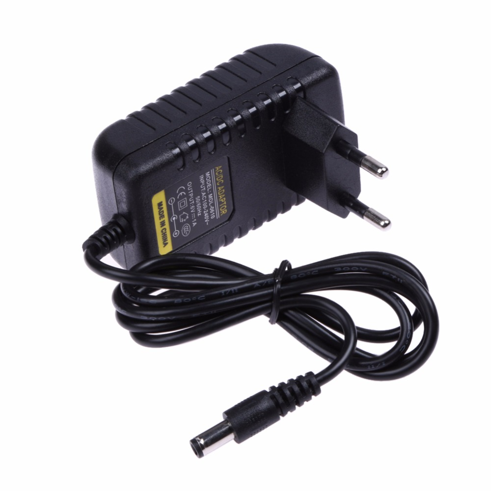 100-240V Power Supply Adapter EU Plug Switching AC DC Converter 6V 1A 1000mA Charger 5.5 X 2.5mm