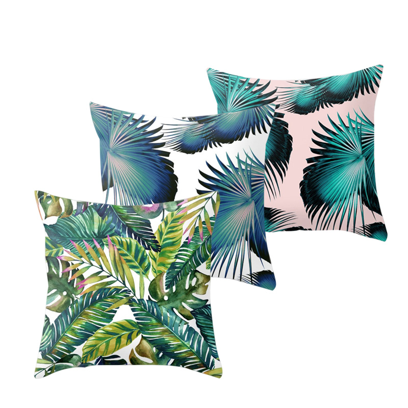Plants Leaves Cushion Cover Throw Pillow Case Home Decoration Pillowcase for Couch Sofa Bed HG99