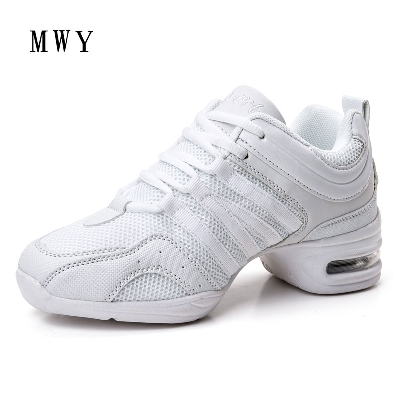 MWY Dancing Shoes For Women Jazz Sneaker Soft High Top High Heeled Dance Shoes Chaussures Salsa Femme WomenSquare Dance Shoes