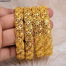 ANNAYOYO الاثيوبية أفريقيا مجوهرات الذهب اللون الزفاف الإسورة للنساء دبي العروس سوار الأفريقي مجوهرات الشرق الأوسط البنود