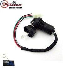 Ключ зажигания STONEDER с 4-контактным проводом для квадроцикла Go Kart 50cc 70cc 90cc 110cc 125cc Taotao Sunl Kazuma Roketa