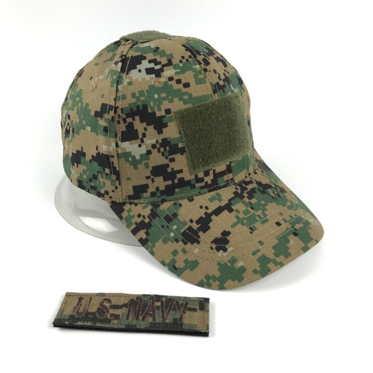 Xongkoro Men Camouflage Tactical Cap 1pcs Custom Patch Male Baseball Cap Navy Badge Name Emblem Combat Army Hat Woodland Digital летняя шина bridgestone b250 185 60 r15 84h j mo