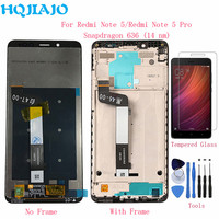 HQJIAJO For Xiaomi Redmi Note 5 Pro LCD Display Touch Screen Digitizer 10 Points Touches For Xiaomi Redmi Note5 LCDs Assembly