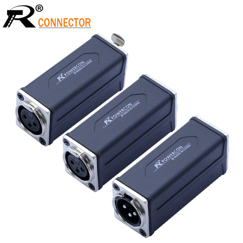 1PC Silver 3PIN XLR Straight Adapter High Quality XLR Panel Mount Connector Male To Female Extension Adapter