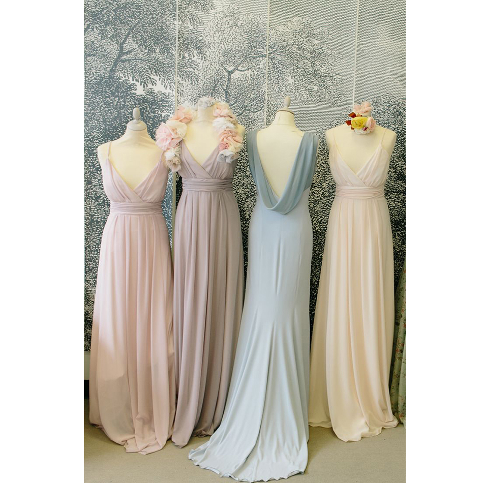 Dusty roseblushpink bridesmaid dresses spaghetti straps v neck dusty roseblushpink bridesmaid dresses spaghetti straps v neck long wedding party dress chiffon maid of honor gowns plus size in bridesmaid dresses from ombrellifo Choice Image