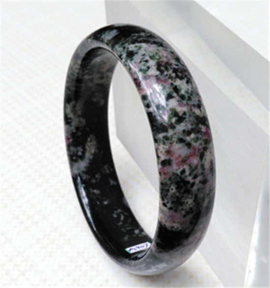 Hot sell ->@@ New 100% Natural RED Peach Blossom Jade Jade Bracelet 59.5MM NEW -Top quality free shipping