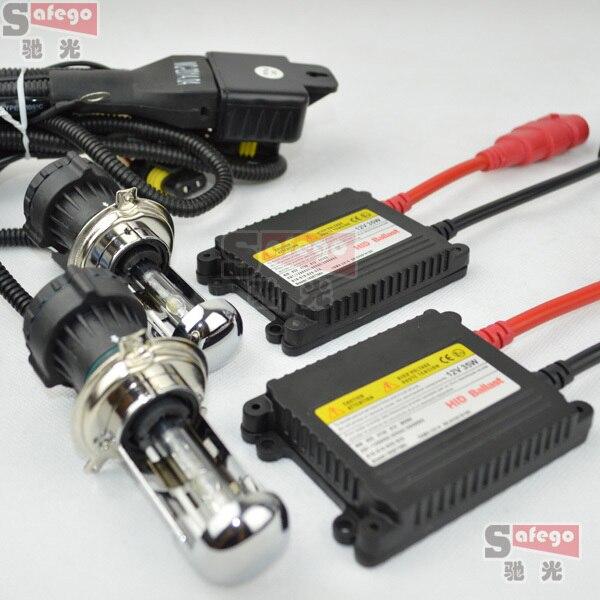 1 ensemble h4 bi xenon, H13 9004 9007 bi xénon feux de croisement, Flexible xénon HID KIT ensemble 35 W HID xénon kit DC12V hid kit de conversion - 2
