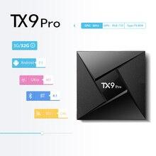Tanix TX9 Pro ТВ Box Amlogic S912 Восьмиядерный Процессор ОС Android 7,1 4 К Smart ТВ BOX 1000 м локальной сети 3G RAM 32G ROM 5,8 Г WI-FI Media Player