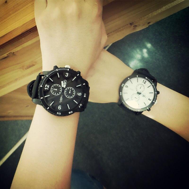 Mance 2015 unisex leather strap watches men luxury brand big dial men watch for lovers black white lady sport women quartz watch mance ladies brand designer watches