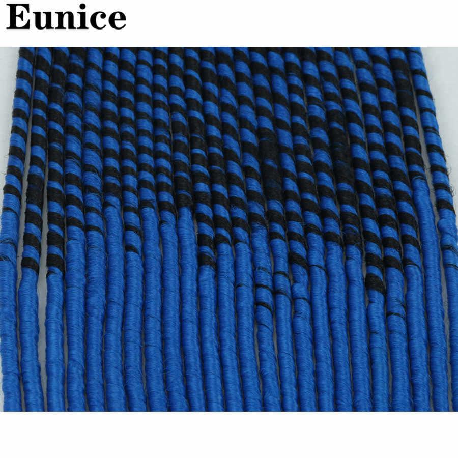 Faux Kunci Crochet Kepang Rambut Rambut Sintetis Ekstensi Rambut Mengepang Rajut Kepang Rambut Campuran Warna