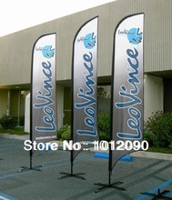 240X60cm Advertising Flying Flag, Beach Flags, Feather Flags (printing one side,  other sided in a reverse image)