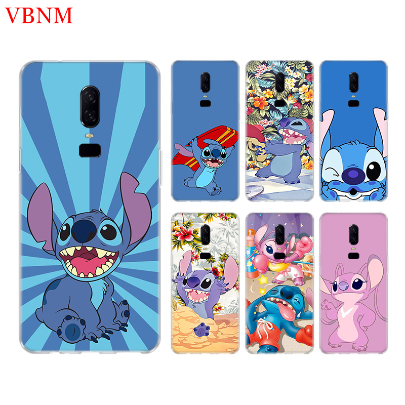 Disneys Stitchs Cute Phone Back Case For font b OnePlus b font font b 7 b