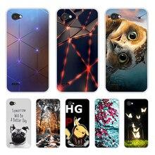 מקרה טלפון עבור LG Q6 רך סיליקון TPU מיקי מיני דפוס מודפס עבור LGQ6 מקרה כיסוי