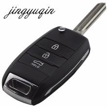 jingyuqin Flip Folding Remote Key Case Shell for KIA K2 K3 K5 Carens Cerato Forte Car Fob Cover Housing