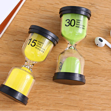 1pc Home Ornament Desktop Sand Clock Timers 10 minute/15 minutes/30 minutes Hourglass Timer