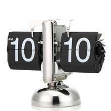 1 шт., 2 цвета, креативные подарки, автоматические откидные настольные часы для дома или офиса, настольные часы