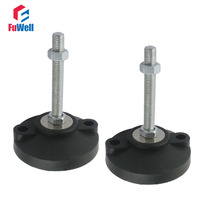2pcs M20x100mm Adjustable Foot Cups Reinforced Nylon Base 100mm Diameter Articulated Feet M20 Thread Leveling Foot