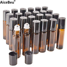 AiceBeu 10/20 шт 10 мл Amber Стекло ролика бутылка бутылки со съемным Нержавеющаясталь ролик мяч для Эфирное масло духи