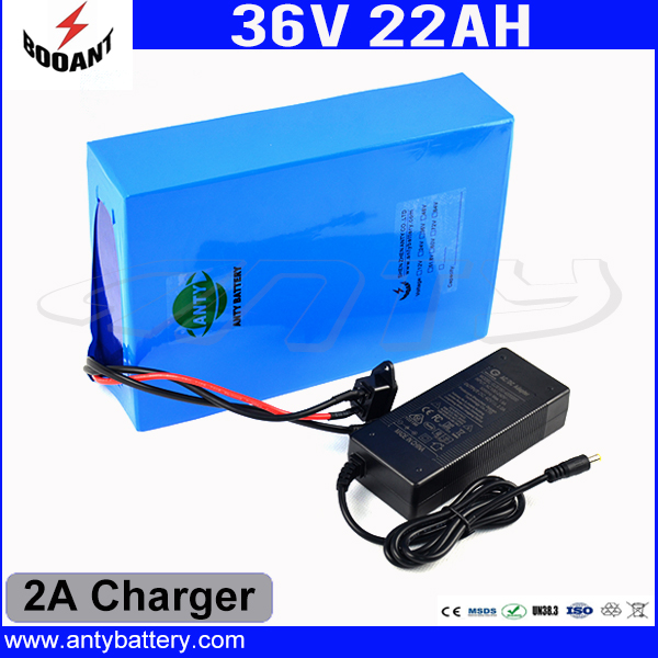 DIY 36V 22Ah Lithium Battery Pack 36V Built-in 50A BMS For 8Fun Bafang 1500W Motor E-Bike Battery With 2A Charger Free Shipping free customs taxes factory diy 36 volt battery pack with charger and 20a bms for 36v 10ah lithium battery