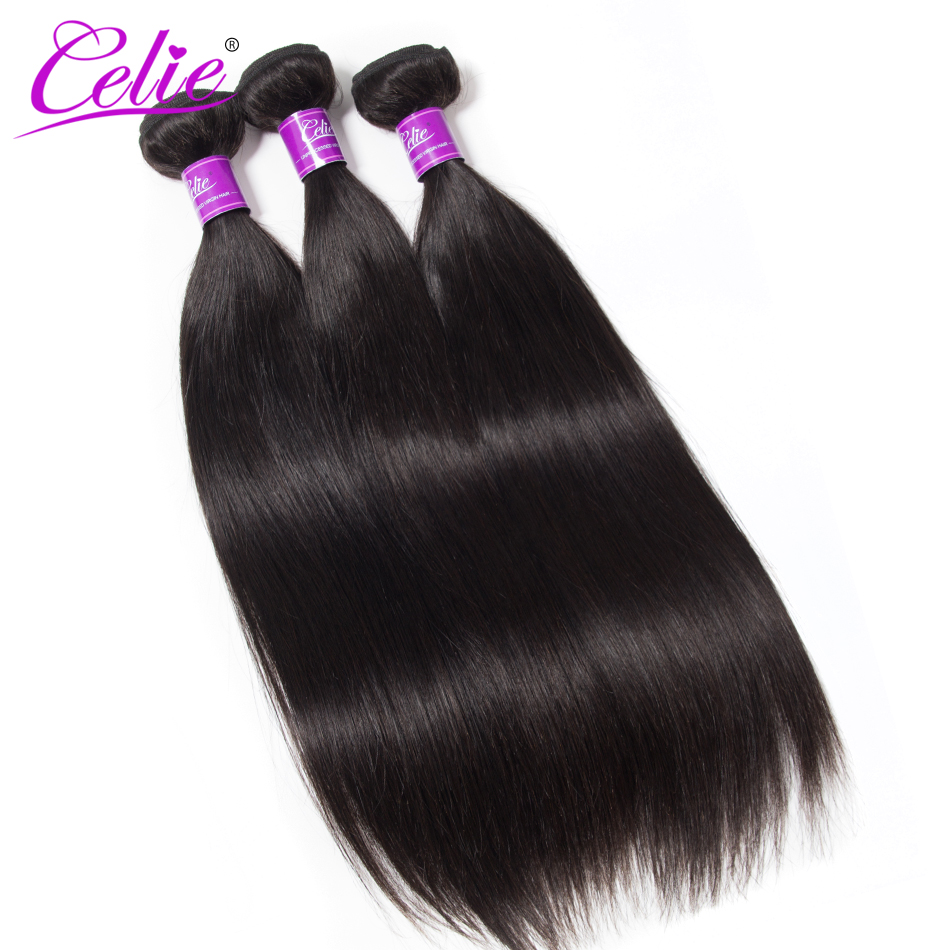 HTB1 rcce9tYBeNjSspkq6zU8VXal Celie Hair Brazilian Hair Weave Bundles With Closure Straight Hair Bundles With Closure Remy Human Hair Bundles With Closure