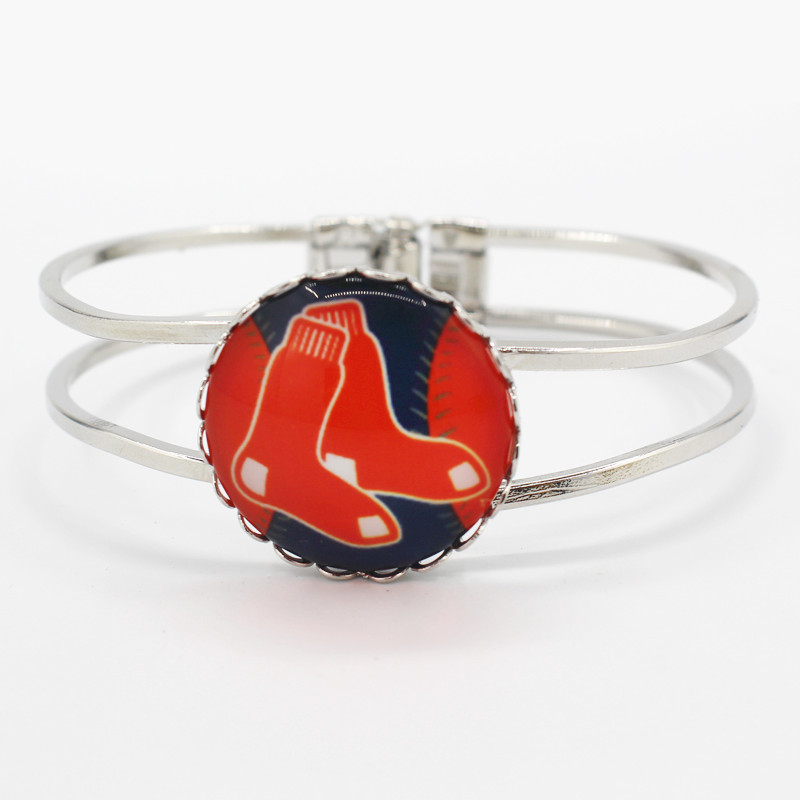 2017 New sports Boston Red Sox baseball team charm alloy silver bracelets for fashion sports bracelet jewelry 6pcs/lot